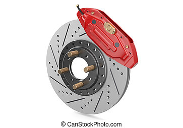 Car discs brake and caliper - Car disc brake and caliper...