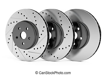 Car discs brake rotors, 3D rendering - Car discs brake...