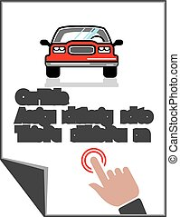 Car Document Click Sign