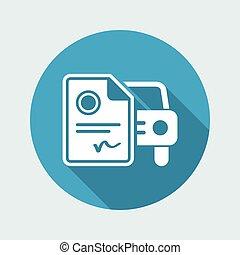 Car document - Minimal flat icon