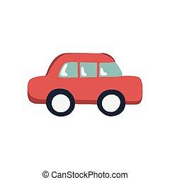 car doodle icon, vector color cute illustration