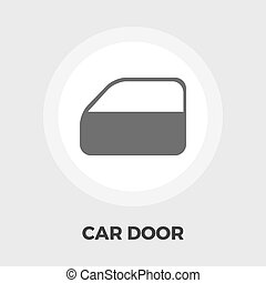 Car door flat icon