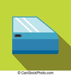Car door flat icon with shadow