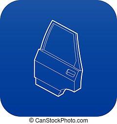 Car door icon blue vector