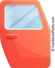Car door icon, cartoon style