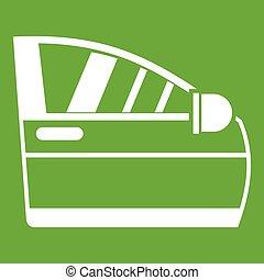 Car door icon green