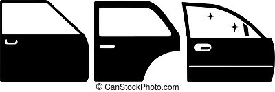 car door icon isolated on white background