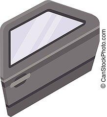 Car door icon, isometric style