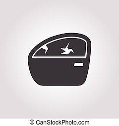 car door icon on white background