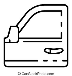 Car door icon, outline style