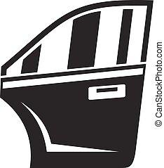 Car door icon, simple style