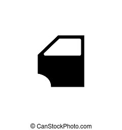 Car door icon. Vector concept illustration for design.