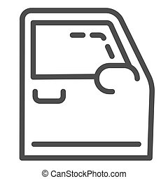 Car door line icon. Automobile door vector illustration isolated on white. Auto part outline style design, designed for web and app. Eps 10.