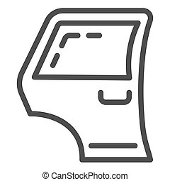 Car door line icon. Automobile side door vector illustration isolated on white. Car part outline style design, designed for web and app. Eps 10.