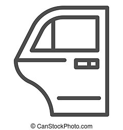 Car door line icon. Car element vector illustration isolated on white. Auto door outline style design, designed for web and app. Eps 10.