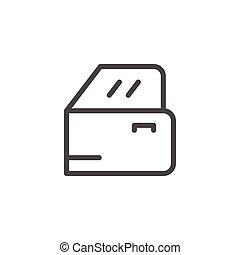 Car door line icon