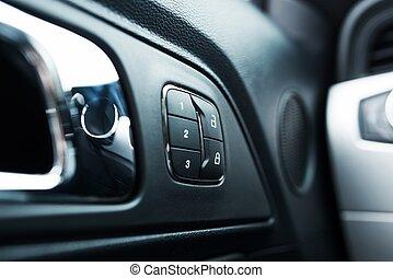 Car Door Lock Closeup