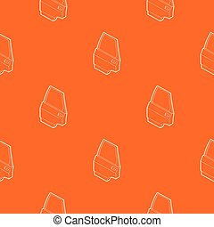 Car door pattern vector orange