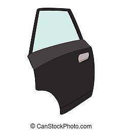 Car door single cartoon icon