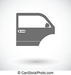 ... Car door. Single flat icon on white background. Vector.  sc 1 st  Can Stock Photo & Car door Vector Clipart EPS Images. 5255 Car door clip art vector ...