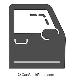 Car door solid icon. Automobile door vector illustration isolated on white. Auto part glyph style design, designed for web and app. Eps 10.