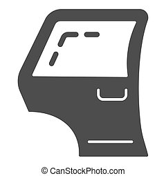 Car door solid icon. Automobile side door vector illustration isolated on white. Car part glyph style design, designed for web and app. Eps 10.