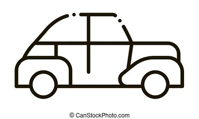 Car Door Tuning Icon Animation. black Car Door Tuning animated icon on white background