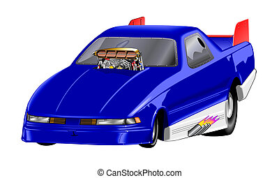 Car - Dragster Blue