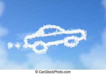 Car dreaming cloud - Cloud shaped as car ,dream concept