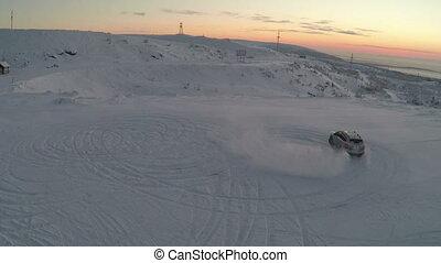 Car Drift In Snow
