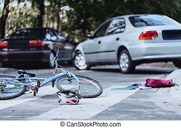 Car driver hit a child