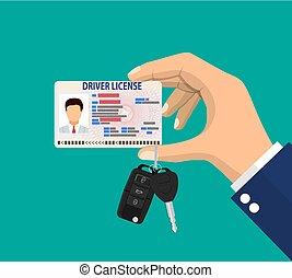 Car driver man license identification card