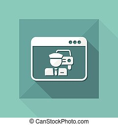 Car driver web service