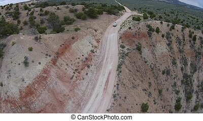 Cottonwood Canyon Road Utah - Car Driving down the hill...