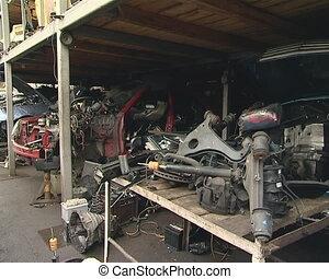 Car dump. Broken down car