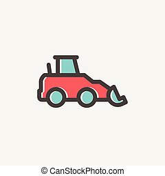 Car dumper thin line icon