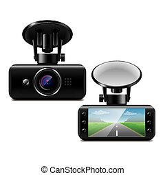 Car DVR isolated on white vector