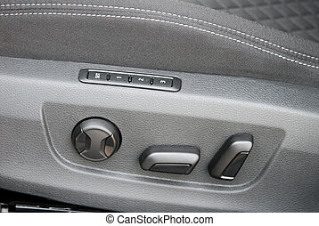 Car electric seat and adjustment button