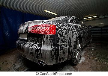 car, em, multa, ligado, car-wash
