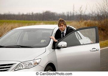 car, empurrar