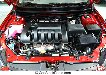 Car engine at show