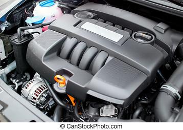Car engine close-up view