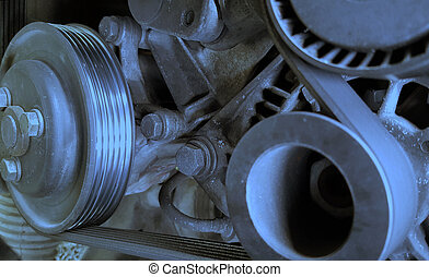 Car engine detail