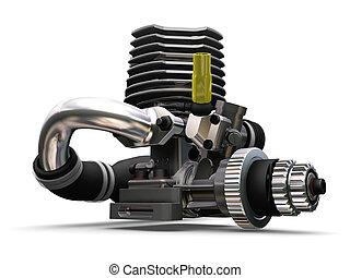 Car engine - 3D render of a car engine