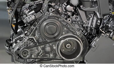 car engine gears and belt
