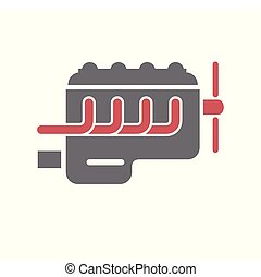 Car engine icon on white background for graphic and web design, Modern simple vector sign. Internet concept. Trendy symbol for website design web button or mobile app.
