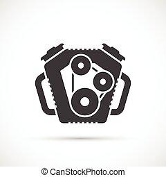 Car engine icon. Car repair service spare part