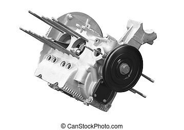 car engine isolated on white background