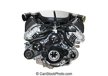 Car engine isolated - The auto Car engine isolated