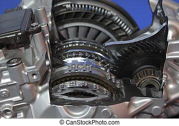 Car engine of close-up